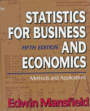 Statistics for business and economics PDF
