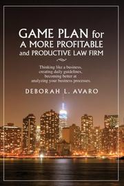 Game Plan for a More Profitable and Productive Law Firm PDF