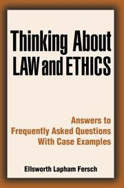 Thinking About Law and Ethics PDF