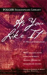Cover of: As You Like It (Folger Edition) by William Shakespeare