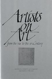 Artists on art, from the XIV to the XX century by Goldwater, Robert John