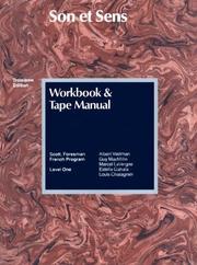 Son Et Sens (Workbook and Tape Manual) PDF