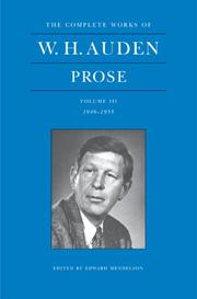 Poems by W. H. Auden