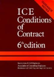 ICE Conditions of Contract by Institution Of Civil Engineers