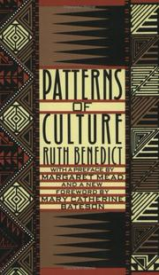 Patterns of culture by Ruth Benedict
