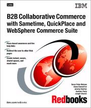 B2B Collaborative Commerce With Sametime, Quickplace and Websphere Commerce Suite PDF