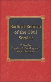 Radical Reform of the Civil Service PDF