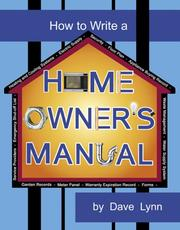 How To Write A Home Owner's Manual PDF
