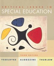 Critical issues in special education PDF