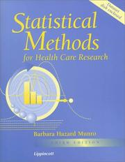 Statistical methods for health care research by Barbara Hazard Munro