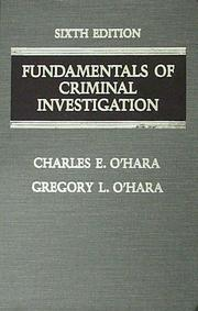 Fundamentals of criminal investigation by Charles E. O'Hara