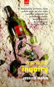 Cover of: A Private Inquiry (A&B Crime) by Jessica Mann
