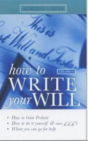 How to Write Your Will by Marlene Garsia