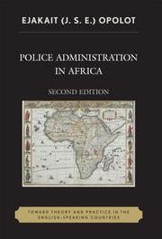Police Administration in Africa PDF
