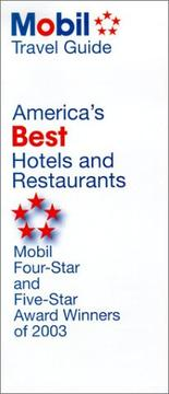 America's Best Hotels and Restaurants, 2003 by Mobil Travel Guide