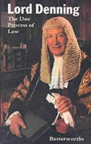 The due process of law by Alfred Thompson Denning