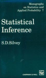 Statistical Inference (CRC Monographs on Statistics & Applied Probability)