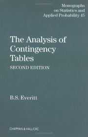 The analysis of contingency tables PDF