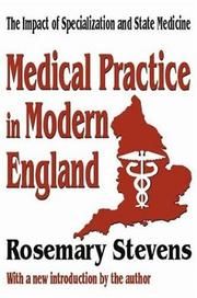 Medical practice in modern England PDF