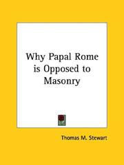 Why Papal Rome is Opposed to Masonry PDF