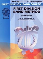 First Division Band Method, Part 2 (E-flat Alto Saxophone) (First Division Band Course) PDF