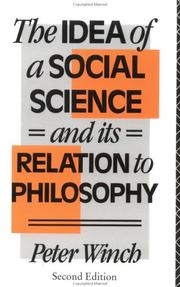 The idea of a social science and its relation to philosophy PDF