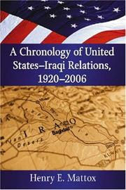 A chronology of United States-Iraqi relations, 1920-2006 PDF