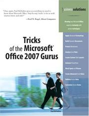 Tricks of the Microsoft Office 2007 Gurus (Business Solutions) PDF