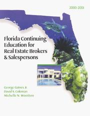 Florida continuing education for real estate brokers & salespersons, 1999-2000 by George Gaines