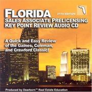 Florida Salesperson Prelicensing Key Point Audio CD PDF