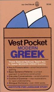 Vest Pocket Modern Greek PDF