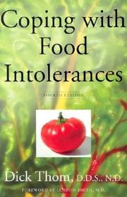 Coping with food intolerances by Dick Thom