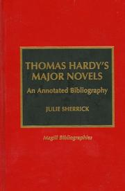 Thomas Hardy's major novels by Julie Sherrick