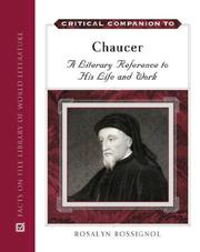Critical companion to Chaucer by Rosalyn Rossignol