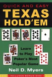 Quick and Easy Texas Hold'em--Includes Instructional DVD PDF