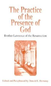 Pratique de la prsence de Dieu by Brother Lawrence of the Resurrection