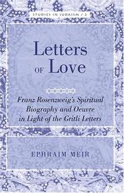 Letters of Love by Ephraim Meir