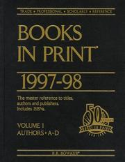 Books in Print 1997-98 (Books in Print) PDF