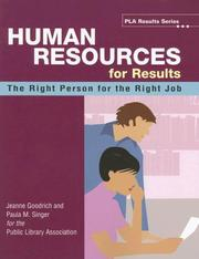 Cover of: Human Resources for Results by Jeanne Goodrich, Paula M. Singer