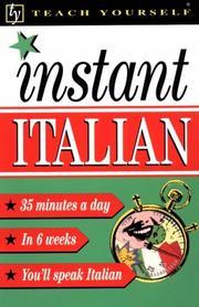 Teach Yourself Instant Italian PDF