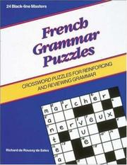 Games - French Grammar Puzzles (Language - French) PDF