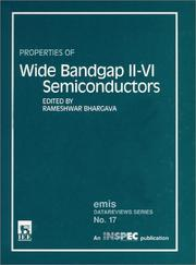 Properties of Wide Bandgap Ii-VI Semiconductors (E M I S Datareviews Series) PDF