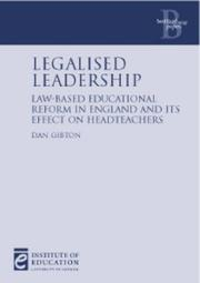 Legalised Leadership by Dan Gibton
