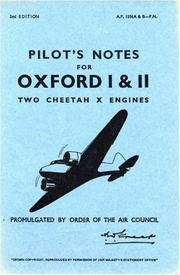 Airspeed Oxford I & II -Pilot's Notes PDF