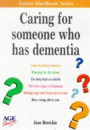 Caring for Someone Who Has Dementia PDF