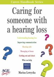 Caring for Someone with a Hearing Loss PDF