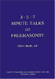 Three Five Seven Minute Talks on Freemasonry PDF