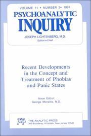P.I. V11#3 RECENT DEVEL. (Physchoanalytic Inquiry Series, Vol 11, No 3) PDF