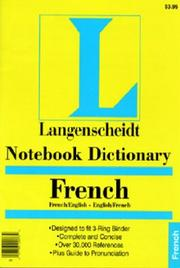 Notebook Dictionary French PDF