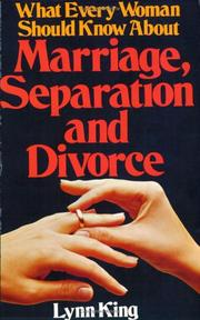 What Every Woman Should Know About Marriage, Separation and Divorce PDF